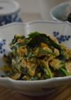 白だし活用☆菜の花と豆腐の卵とじ