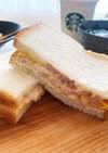 甘い卵とツナマヨのサンドイッチ