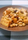 厚揚げとお豆のカレーマヨソテー