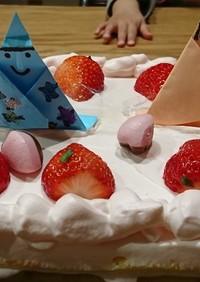 子供と一緒に手作りお雛様ケーキ