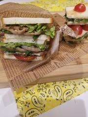 春野菜のサンドウィッチの写真