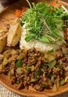 野菜ごろごろ☆簡単ひき肉でドライカレー☆