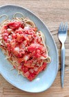 イワシの生姜煮リメイク!トマトパスタ