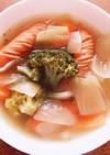 簡単あったか野菜たっぷりコンソメスープ