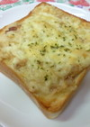 簡単給食 白いんげん豆のトースト