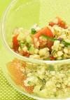 138kcal♪彩り鮮やかそばの実サラダ