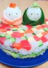 ひな祭り♡簡単!彩りちらし寿司ケーキ