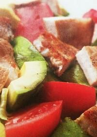 肉ダイエット④豚アボカドステーキサラダ