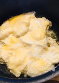 ふわふわメレンゲ卵のスープ