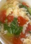 南房総市給食◆トマトと卵のスープ