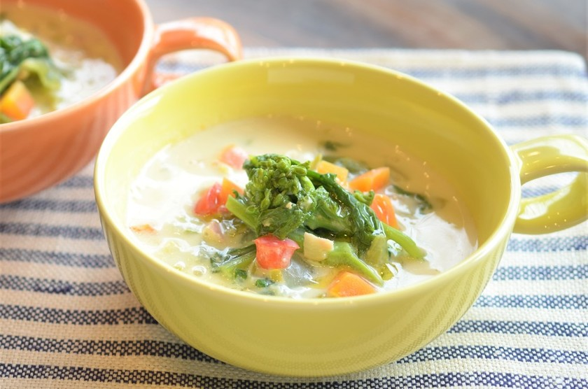 妊娠、授乳に春野菜の豆乳ジンジャースープ