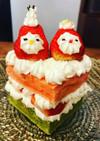 お雛様 三色 ケーキ