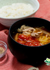 豚肉のトマト風味キムチスープ