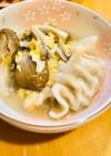 鍋の素で簡単☆餃子/肉団子スープ♪