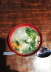 春菊と卵のシャンタンスープ