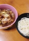 炒め豚バラネギで美味簡単♡つけ麺うどん♡