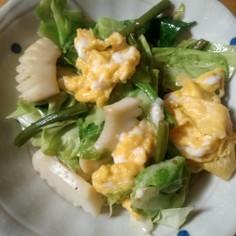イカと春キャベツの卵マヨソテー