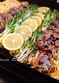 サッポロ一番醤油ラーメンで鉄板つけ麺