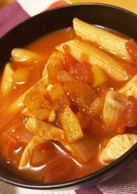 [妊活]鶏肉ペンネトマトスープ