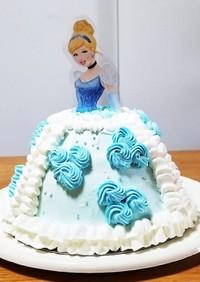 簡単に♪プリンセスのドールケーキ☆