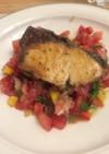 トマトのトルコ風マリネ✨魚のソテー