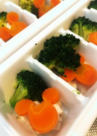 ささみと温野菜【手づかみ食べ】