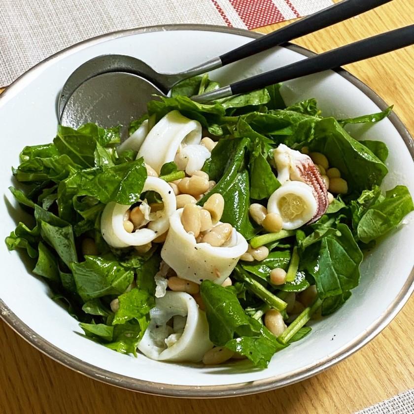 簡単★ヤリイカと白インゲン豆のサラダ
