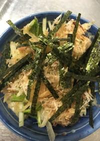 大根と水菜(かいわれ)の和風サラダ