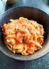 鶏肉の豆乳トマトクリーム風パスタ