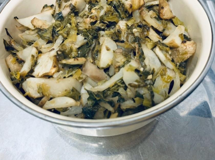 菊芋と高菜炒め