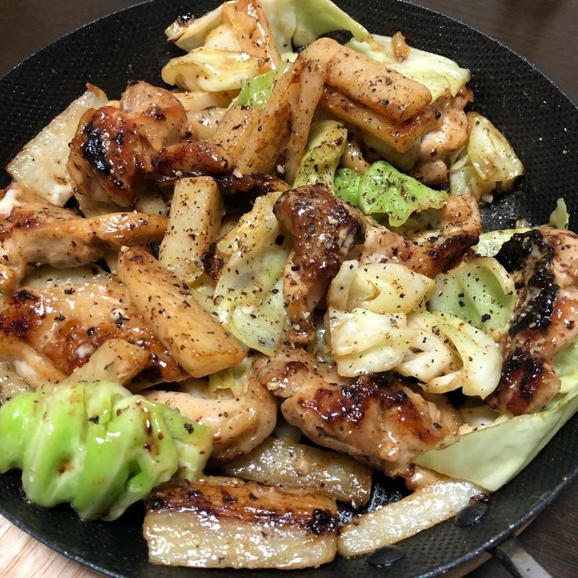 鶏肉と野菜のマヨソテー