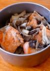 簡単♪鮭ときのこのマヨしょうゆ炒め