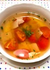 簡単に*トマトとベーコンのコンソメスープ