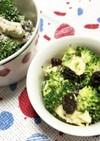 鶏肉とブロッコリーのカレー風味サラダ