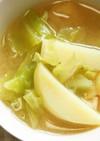 キャベツ・じゃが芋の味噌汁♪