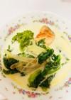 菜の花と鮭のミルクスープ