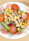 お豆とキャベツのサラダ
