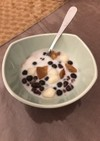 ココナッツミルクと小豆のデザート