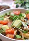 豆腐とアボカドきのこのガリバタ醤油丼★