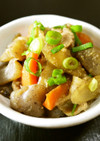 豚ばら肉・蒟蒻・人参・ごぼうの味噌煮込み