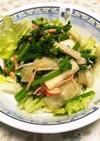 菜の花と大根のサラダ