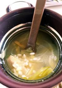 スープジャーでサムゲタン風