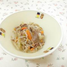 牛肉の甘辛煮@つくば市学校給食