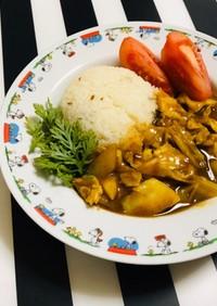 白菜とキャベツのカレー & クミンライス