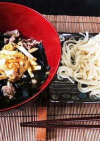 簡単♡乾麺うどんの具たくさんつけ麺