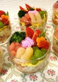 ひな祭りにカップ寿司