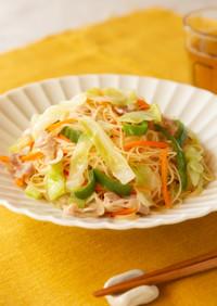 レンジで簡単☆1/3日分野菜の焼ビーフン