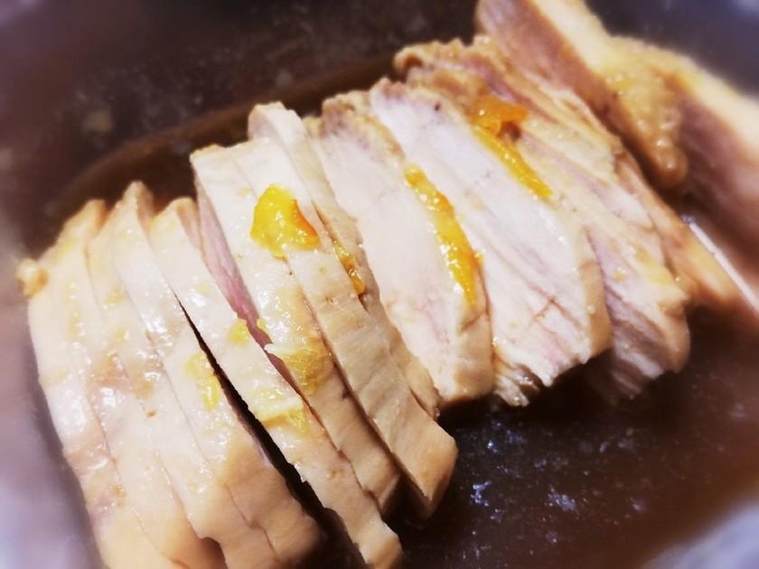 電子レンジで鶏胸肉のマーマレード煮