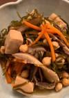 高野豆腐と切り昆布の煮物