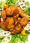 鶏胸肉で♬簡単手間なし唐揚げ